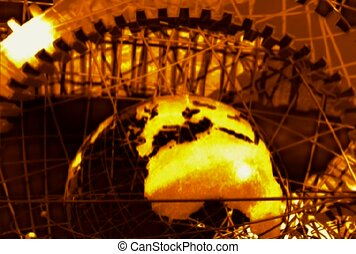 revolve, globe, structure