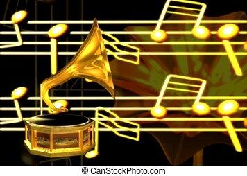 sound, horn, brass