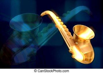 music, saxophone, brass