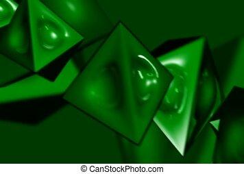pyramid, dent, revolve