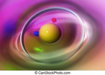 molecule, atom, micro