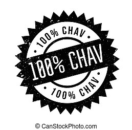 100 Chav rubber stamp. Grunge design with dust scratches....
