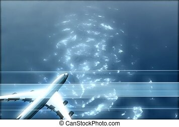 cosmic, water, air plane