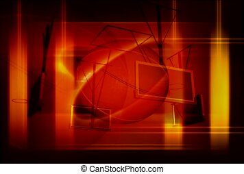 basketball, row, spin