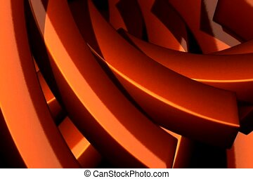 orange, swivel, reflect