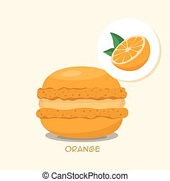 Macaroon with blackberrie taste - Macaroon with Orange...