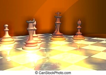 checkered, pawn, strategy