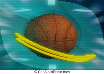 basketball, rotate, round