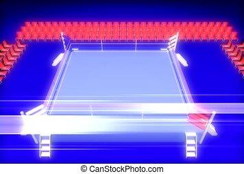 game, fighting ring, box