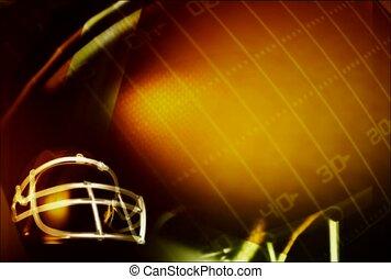 football, field, helmet