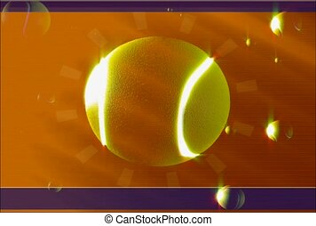 sports, tennis ball, illuminate