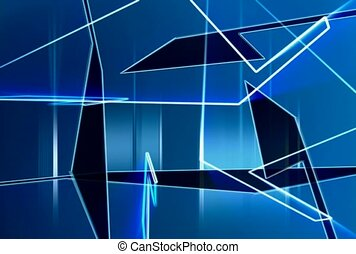 geometric, blue, transparent