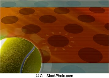 game, tennis ball, green