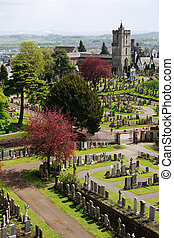 Graveyard, stirling castle - Stirling castle graveyard and...