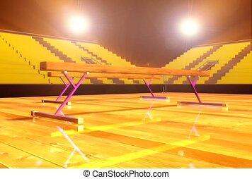 arena, spotlight, gymnastics