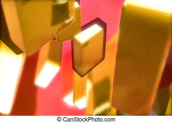 discrete planes, gold, reflect