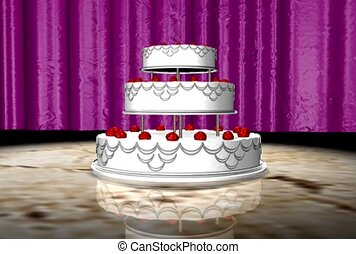 wedding cake, food, dessert
