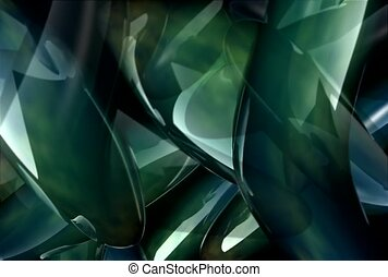 green, glare, glisten
