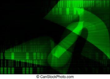 pattern, green, shape