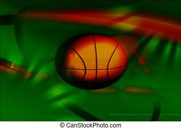 basketball,  ball, green