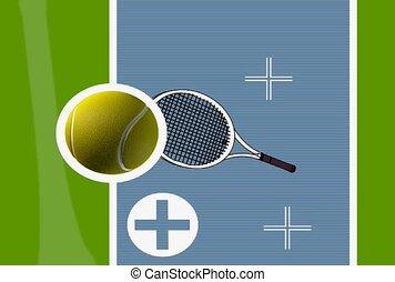tennis, swing, target