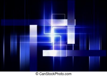 blue, geometric, cubism