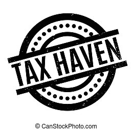 Tax Haven rubber stamp. Grunge design with dust scratches....
