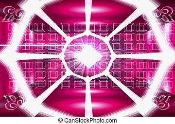 pink, border, frame