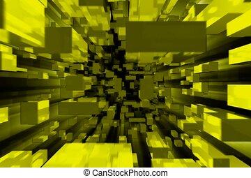 3D, cube, blockade