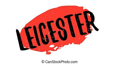 Leicester rubber stamp. Grunge design with dust scratches....