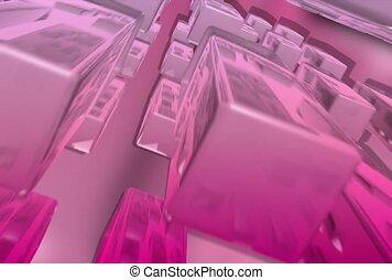 pink, block, approach
