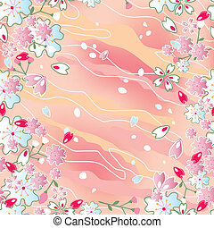 Seamless japanese cherry blossoms f