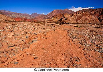 Argentina Desert Red Rock Lands - Landscape of the amazing...