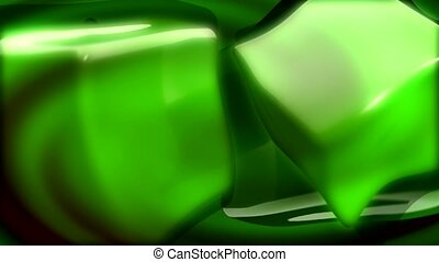 fluid, green, flow