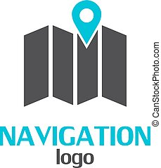Navigation logo template on a white background. Vector...