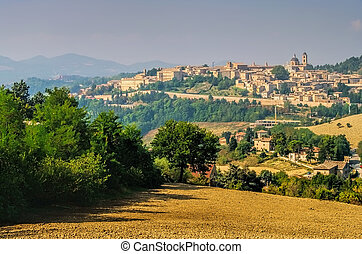 View of Urbino, Marche in Italy