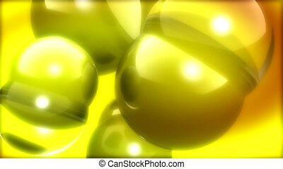 sphere,yellow, glare