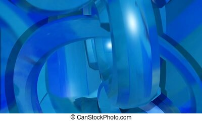 depth, blue, intertwine