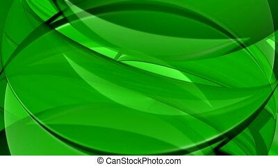 multi-layered effect, green, flow