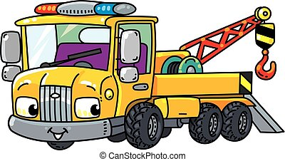Funny small tow truck with eyes - Tow Truck. Small funny...