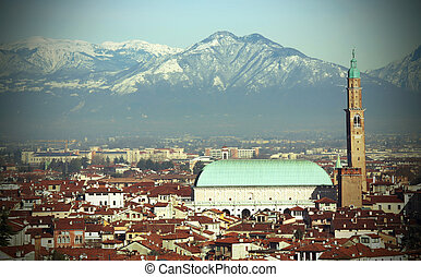 Vicenza in Italy and the monument called BASILICA PALLADIA...