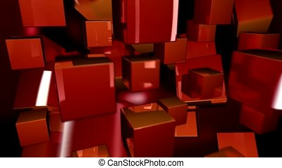 float, red, box