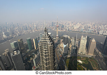 Shanghai from above. View from Shanghai World Financial...