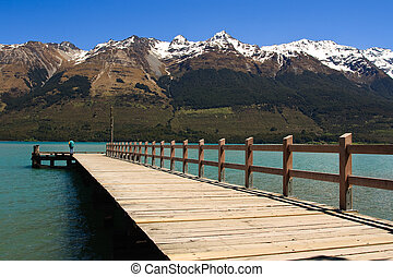 Glenorchy Jetty - Lake Wakatipu Pier in Glenorchy, South...