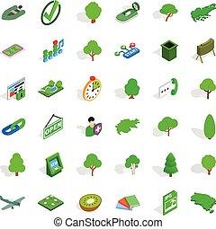 Plane icons set, isometric style - Plane icons set....