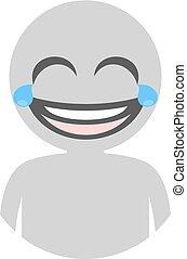 joking man icon - Creative design of joking man icon