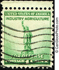 Statue of Liberty - UNITED STATES - CIRCA 1940: stamp...