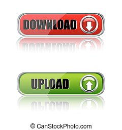 download buttons - illustration of download buttons on white...