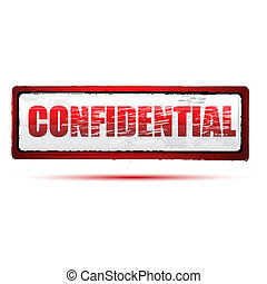 confidential stamp - illustration of confidential stamp on...