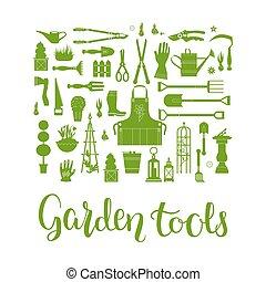 Garden tools set - Vector set of gardening tools....